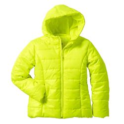 Geaca matlasata de iarna galben fluorescent pentru baieti si fetite