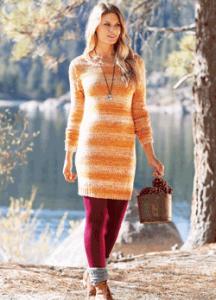 Rochie de toamna portocalie