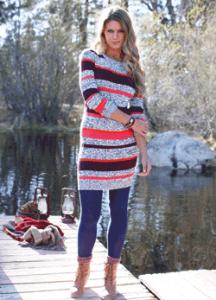 Rochie tricotata din bumbac pentru toamna