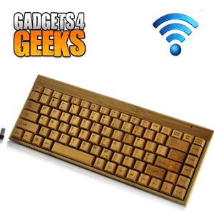 Tastatura Wireless din bambus un cadou Retro Geek