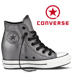 Bascheti din piele Platforme Converse Chuck Taylor All Star Portrait Black 544920