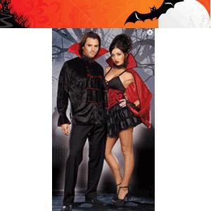 Costum vampirita sexy din rochie cu bretele subtiri reglabile si volanase