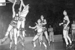 Converse in primul meci national al campionatului NCAA ce a avut loc in 1939