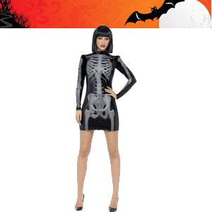 Costum de schelet din rochie din vinil