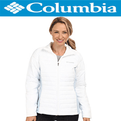 Geaca iarna Columbia Powder Pillow Jacket de culoare alba pentru femei