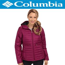 Geci de iarna Columbia Powder Pillow dama culoare burgundy