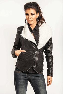 Jacheta din piele ecologica, perfecta pentru zile racoroase