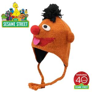 Official Sesame Street Knit Hat Caciulita cu urechi tricotata si colorata pentru baieti si fetite