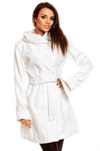 Palton elegant de culoarea alba, model Ludmilla