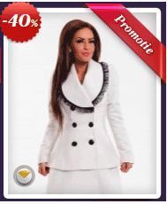 Palton LaDonna Fancy Piece White. Palton LaDonna, ideal sa iti tina de cald si de asemenea sa iti asigure un look chic.