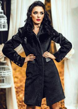 Palton elegant din blanita