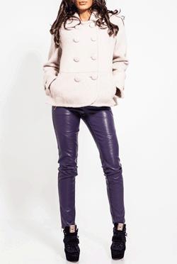 Pantaloni din piele ecologica Oxxy Violet