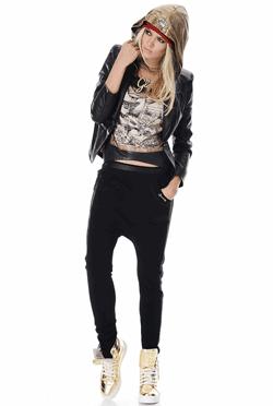 Pantaloni dama tur lasat Tonk perfecti pentru o aparitie glamour chiar si in stil hip hop
