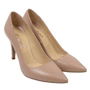 Pantofi nude Stiletto confectionati din piele naturala
