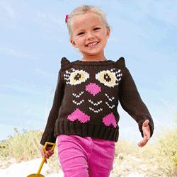 Pulover tricotat cu urechi pentru fetite