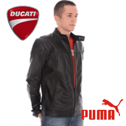 Puma Ducati Leather JKT este o geaca moto din piele premium de cea mai buna calitate