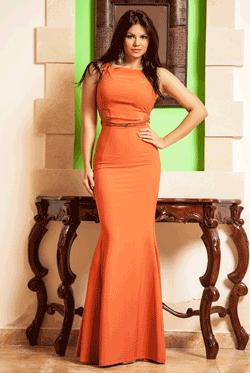 Rochie Fathia Caramizie, rochie lunga perfecta pentru serile in care vrei sa radiezi