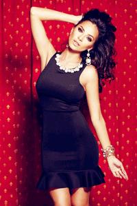 Rochie sexy cu strasuri si perle Atmosphere Fashion