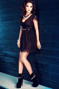 Rochita scurta din dantela neagra Atmosphere Fashion produsa in Romania
