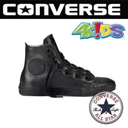 Bascheti copii Converse Chuck Taylor All Star Rubber de culoare neagra