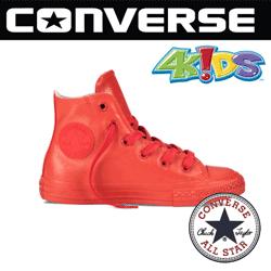Bascheti copii Converse Chuck Taylor All Star Rubber de culoare rosie rezistenti la apa si ploaie