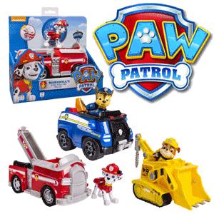 Paw Patrol imbina perfect abilitatile de rezolvare a problemelor, vehicule cool si catelusi draguti, astfel incat copii se vor bucura sa dea o mana de ajutor patrulei. Figurine catelusi Paw Patrol articulate ce vin la pachet cu un vehicul cu roti functionale si functii mecanice: Marshall Pompierul, Rubble Catelul constructor, Chase Catelul politest, Skye catelul aviator, Rocky catelul care recicleaza, Zuma catelul acvatic si Ryder. Modele autentice, identice cu cele din serialul Paw Patrol Misiunea de salvare.