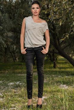 Cei mai frumosi Pantaloni mulati piele ecologica Damaris