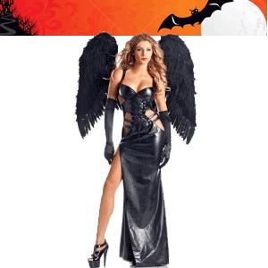 Costum de Halloween dama Inger Gotic Negru