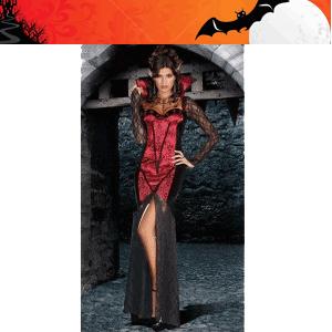 Costum tematic de vampirita sexy cu cupe