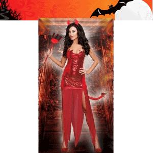 Costum de dracusor din rochie scurta