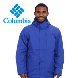 Geci de iarna pentru barbati Columbia Element Blocker Interchange Jacket culoare albastra