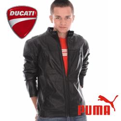 Geaca de piele moto PUMA pentru barbati Ducati