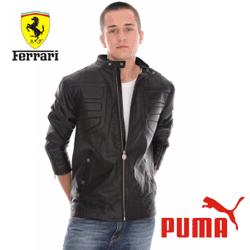 Geaca piele Ferrari Puma pentru barbati