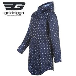 Pelerina de ploaie eleganta albastra Golddigga Raincoat Ladies