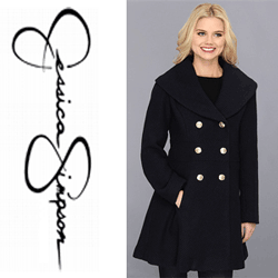 Jachete, paltoane de toamna iarna, imbracaminte femei Jessica Simpson Basket Weave Wool Walker