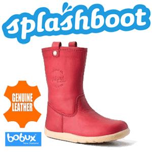 Cizme din piele impermeabile si calduroase pentru copii Splash Boots de la Bobux
