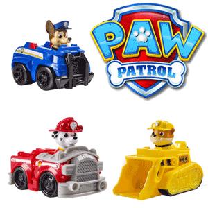 Figurine si jucarii Paw Patrol: Marshall Pompierul, Rubble Catelul constructor, Chase Catelul politest, Skye catelul aviator, Rocky catelul care recicleaza, Zuma catelul acvatic si Ryder