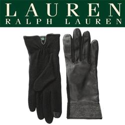 Manusi elegante de dama LAUREN by Ralph Lauren Beaded Ribbon Hybrid Touch Glove . Confectionate din lana si piele naturala.