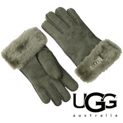 Manusi dama UGG Classic Turn Cuff Glove piele gri