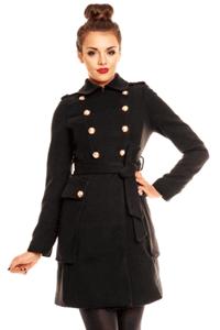 Palton elegant si modern de culoarea neagra Brandon