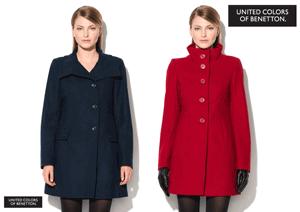 Paltoane din lana United Colours of Benetton la Fashion Days