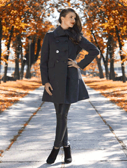 Palton matlasat de dama fabricat in Romania