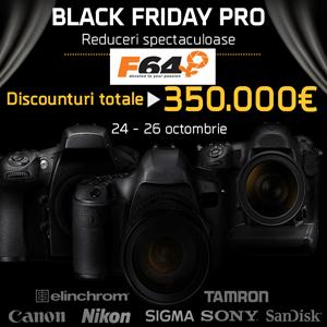 Black Friday Pro 2014 pentru fotografii profesionisti la F64!