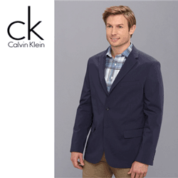 Calvin Klein Yarn-Dyed Micro Check Tech Poplin Blazer