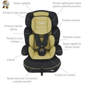 Cele mai ieftine scaune auto pentru bebe BabyGo FreeMove culoare bej