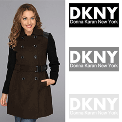 Palton din lana tip trenci DKNY DKNY Trench w/ Boiled Wool Sleeve Coat