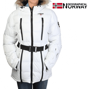 Geaca Geographical Norway Archipel impermeabila alba