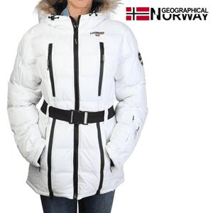 Geaca Geographical Norway Archipel impermeabila alba