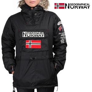 Geaca Geographical Norway cu gluga si blana