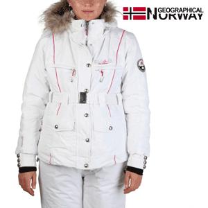 Geaca dama Geographical Norway Valentine alb-fucsia